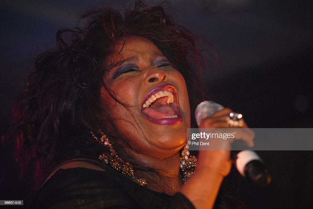 Chaka Khan performs on stage in November 2009 in the United Kingdom.