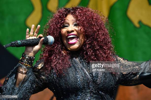 Chaka Khan performs onstage at the 2019 New Orleans Jazz Heritage Festival at Fair Grounds Race Course on May 05 2019 in New Orleans Louisiana