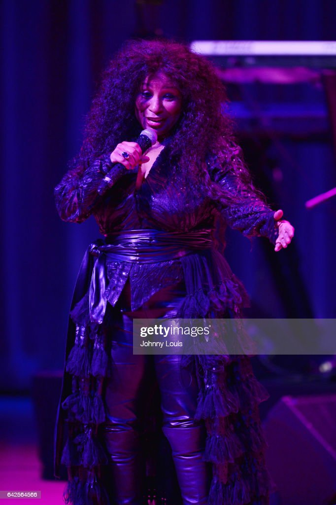 Chaka Khan performs onstage at The Adrienne Arsht Center for the Performing Arts - Knight Concert Hall on February 17, 2017 in Miami, Florida.