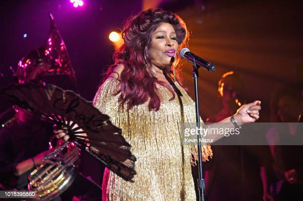 Chaka Khan performs onstage during Apollo in the Hamptons 2018 Hosted by Ronald O Perelman at The Creeks on August 11 2018 in East Hampton New York