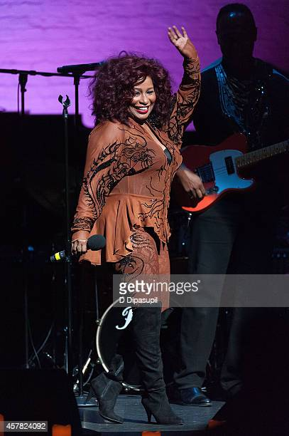 Chaka Khan performs onstage during The Jazz Foundation Of America's 13th Annual 'A Great Night In Harlem' Gala Concert at The Apollo Theater on...