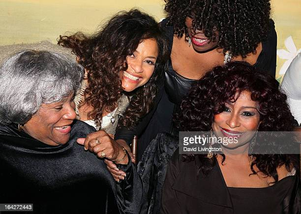 Chaka Khan's mother Sandra Coleman actress Debbie Allen guest and recording artist Chaka Khan attend Khan's 60th birthday party at Yamashiro...