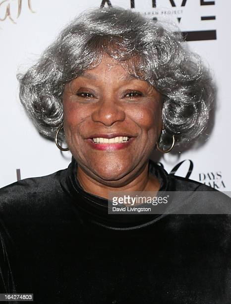 Chaka Khan's mother Sandra Coleman attends Khan's 60th birthday party at Yamashiro Restaurant on March 21 2013 in Los Angeles California