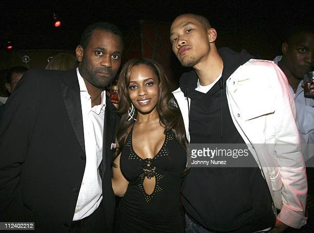Chaka Wilson Melyssa Ford and Dowye Chow during Enyce 10Year Anniversary Gala at Next in New York
