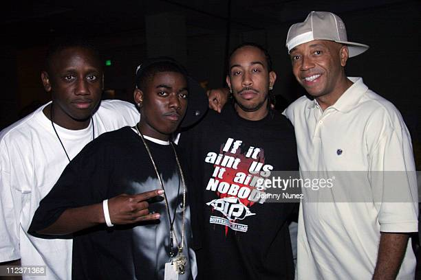 Chaka Zulu Sho Dog Ludacris and Russell Simmons during Power Summit Presents Def Jam Annual Awards Dinner September 30 2005 at Westin Hotel in...