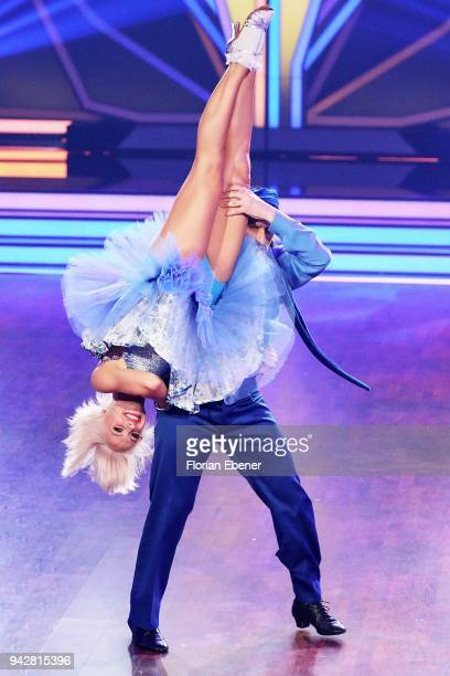 Chakall and Marta Arndt perform on stage during the 3rd show of the 11th season of the television competition 'Let's Dance' on April 6 2018 in...