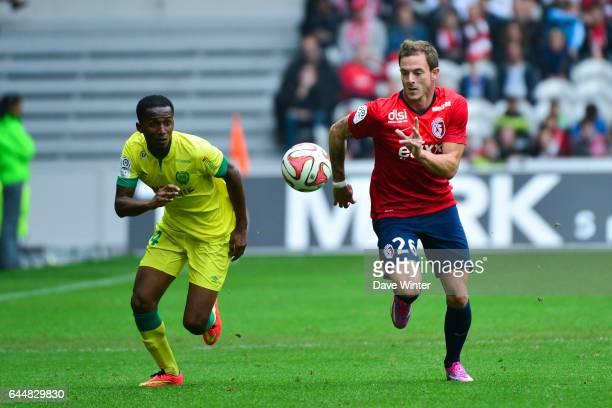 Chaker ALHADHUR / Nolan ROUX Lille / Nantes 5eme journee Ligue 1 Photo Dave Winter / Icon Sport