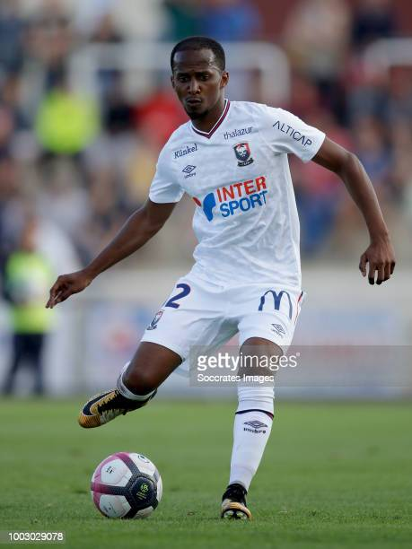Chaker Alhadhur of Caen during the Club Friendly match between Caen v Le Havre AC at the stade pierre compte on July 20 2018 in Vire France