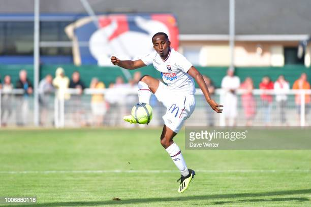 Chaker Alhadhur of Caen during the preseason friendly match between Caen and Guingamp on July 28 2018 in Tourlaville France