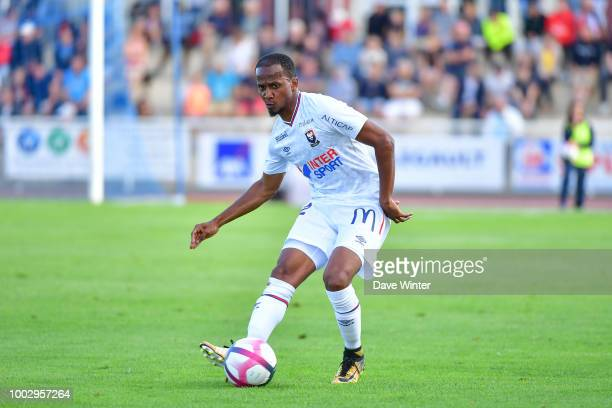 Chaker Alhadhur of Caen during the preseason friendly match for the Trophee des Normands between Caen and Le Havre on July 20 2018 in Vire France