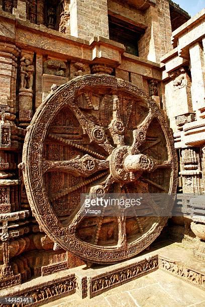 Chakra at Konark temple, Orissa