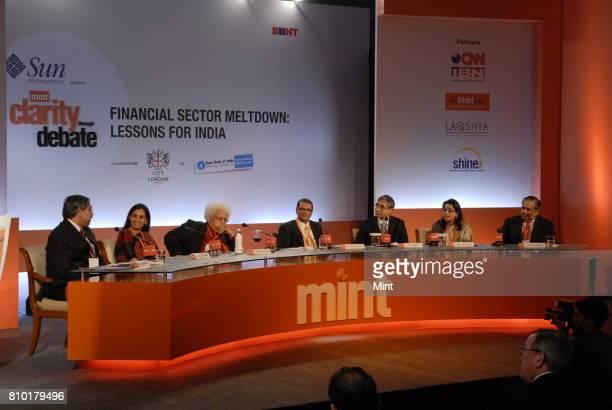 K C Chakrabarthy CMD of Punjab National Bank Chanda Kochchar Joint MD of ICICI Bank Lord Meghnad Desai Emeriuts Professor at London School of...
