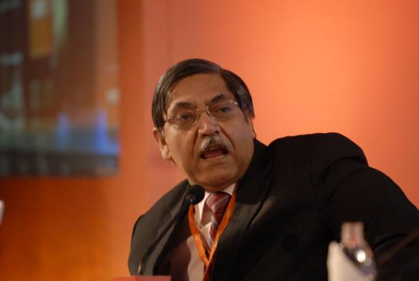 K C Chakrabarthy CMD of Punjab National Bank speaks during the MINT Clarity through Debate Conclave in Mumbai