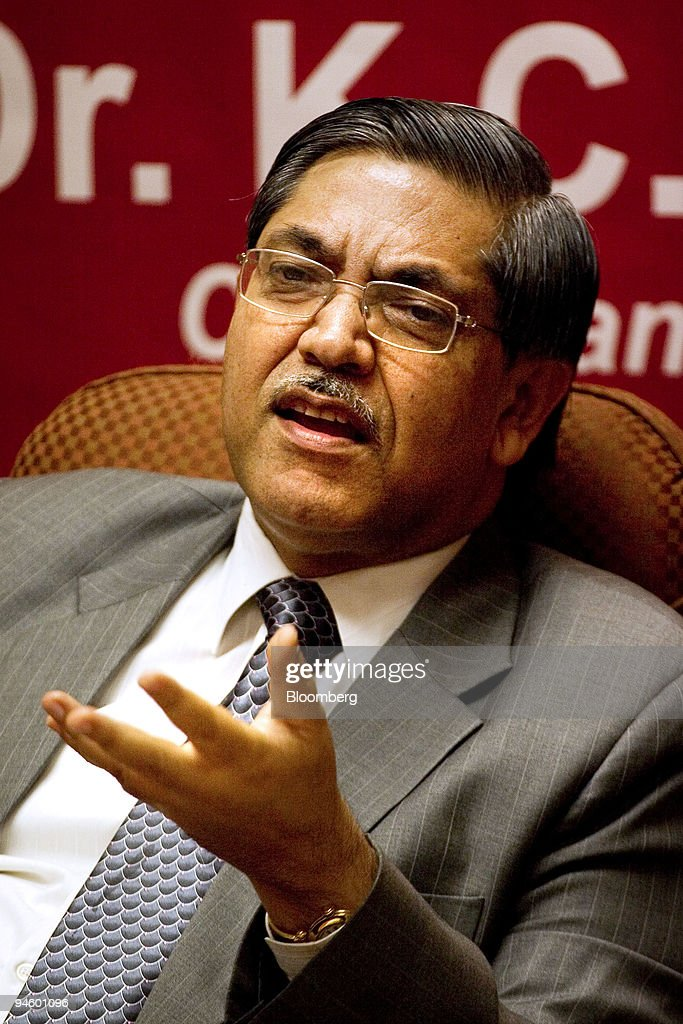 C Chakrabarty chairman and managing director of Punjab National Bank addresses a news conference in the Punjab National Bank board room in New Delhi..