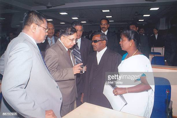 D Chakravarthi Tamil Nadu's first visually impaired judge with Madras High Court chief justice HL Gokhale