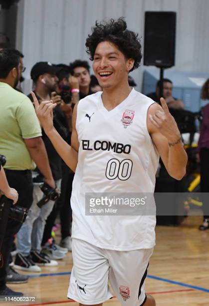 A Chal of Team El Combo is introduced during Roc Nation's Roc da Court allstar basketball game benefiting the Boys Girls Clubs of Southern Nevada at...