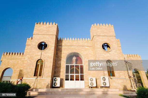 chaldean cathedral of saint joseph in ankawa, iraq - saint joseph stock pictures, royalty-free photos & images