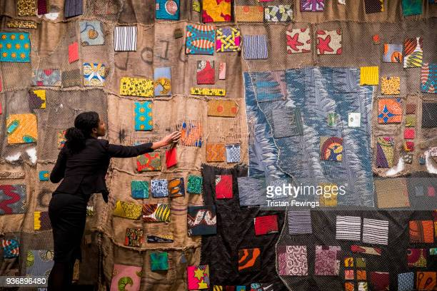 Chale Wote' by Ibrahim Mahama goes on view as part of Sotheby's Modern & Contemporary African Art at Sotheby's on March 23, 2018 in London, England....