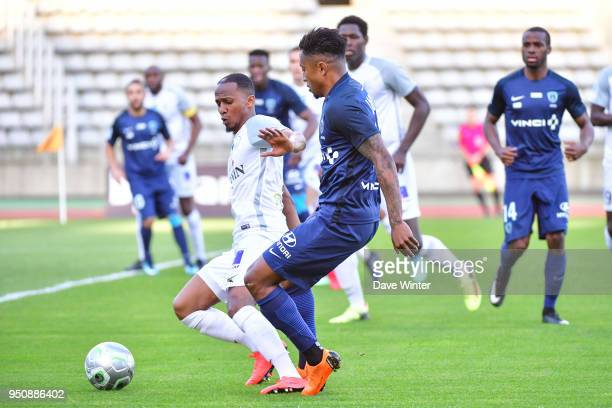Chalek Alhadhur of Chateauroux and Lalaina Nomenjanahary of Paris FC during the French Ligue 2 match between Paris FC and Chateauroux at Stade...