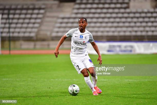 Chalek Alhadhur of Chateauroux during the French Ligue 2 match between Paris FC and Chateauroux at Stade Charlety on April 24 2018 in Paris France