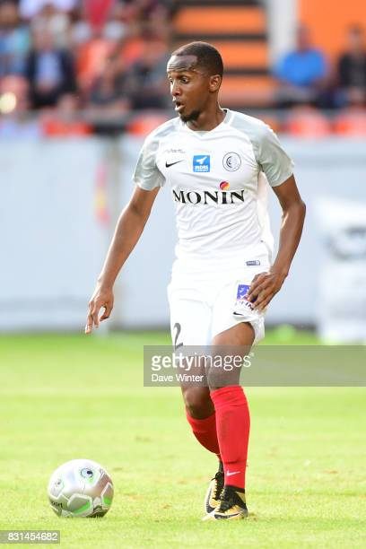 Chalek Alhadhur of Chateauroux during the Ligue 2 match between FC Lorient and Chateauroux at Stade du Moustoir on August 14 2017 in Lorient