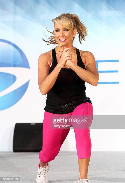 Chalene Johnson coaches PiYo during Beachbody's SUPER WORKOUT takes over Nashville, as nearly 25,000 coaches work out on Broadway during the 2016...