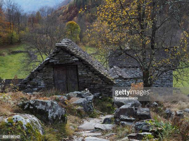 Chalet Made With Local Granite Stone In Verzasca Valley, Ticino, Switzerland