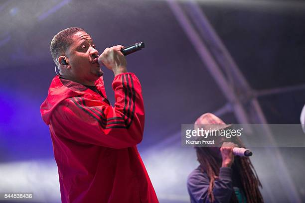 Chali 2na and Akil of Jurassic 5 performs at CastlePalooza at Charville Castle on July 2, 2016 in Tullamore, Ireland.