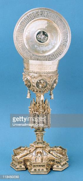Chalice and Monstrance vessels for containing the wine and bread of the Mass Portugal 16th century sacred vessels Church plate