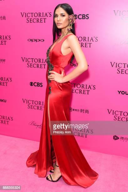 Chalita Suansane attends 2017 Victoria's Secret Fashion Show In Shanghai Pink Carpet Arrivals at MercedesBenz Arena on November 20 2017 in Shanghai...