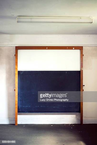 chalk board in lecture hall - lucy shires stock pictures, royalty-free photos & images