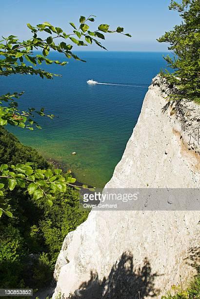 Chalk cliff at Koenigsstuhl, Jasmund National Park, Ruegen island, Mecklenburg Western Pomerania, Germany, Europe