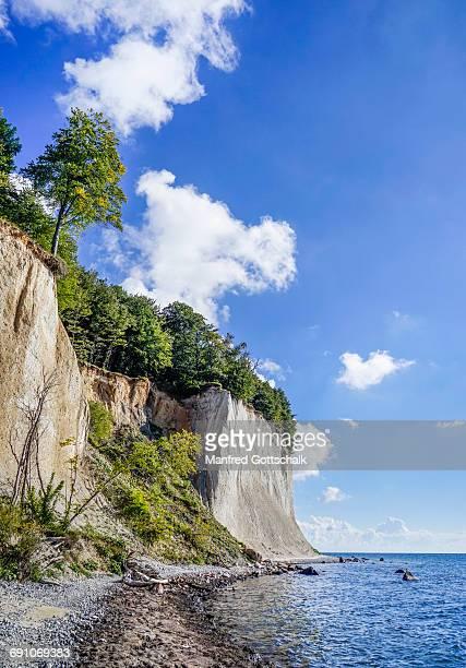 chalk cliff coast Jasmund National Park Rügen