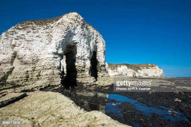 Chalk cliffs at Selwicks bay, Flamborough Head, North Yorkshire
