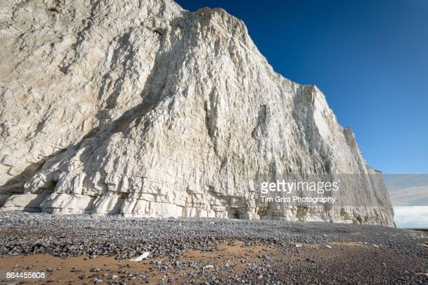 chalk cliffs, beachy head - chert stock photos and pictures