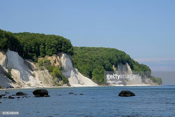 Chalk cliffs, Jasmund National Park, Ruegen, Rugia, Mecklenburg-Western Pomerania, Germany, Europe