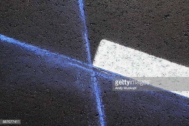Chalk lines and parking line