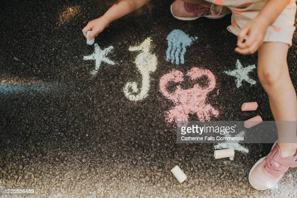 chalk sea life - temporary stock pictures, royalty-free photos & images