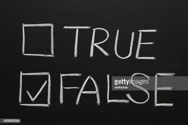 True oder False Ankreuzfeld
