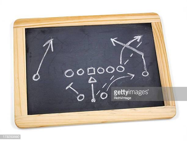 Chalkboard Football Play