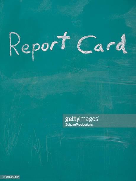 Chalkboard Report Card