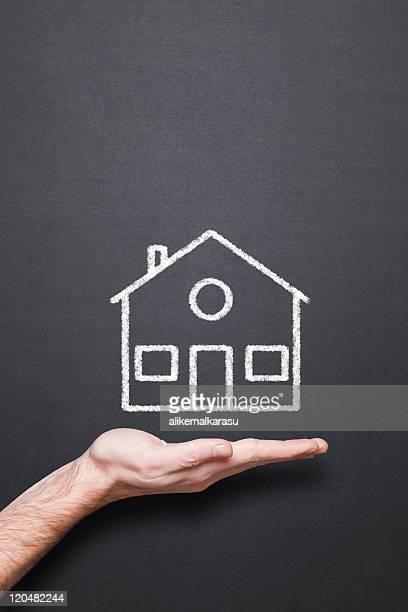Tableau de maison Dessin à la main et