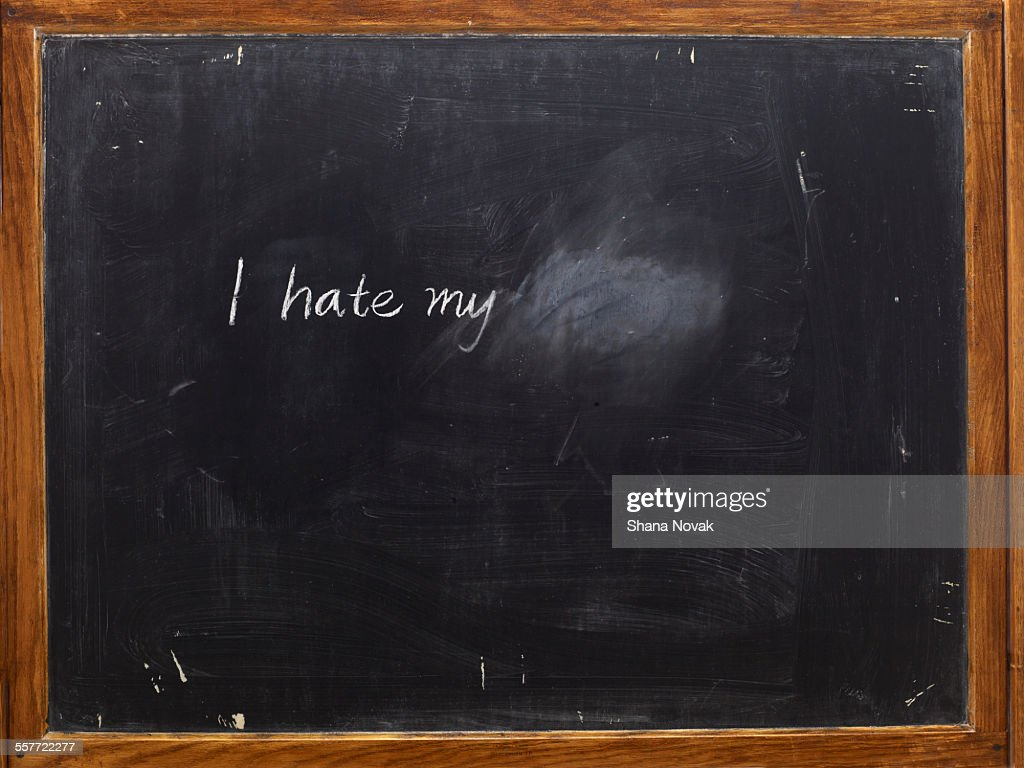 Chalkboard with Writing : Stock Photo