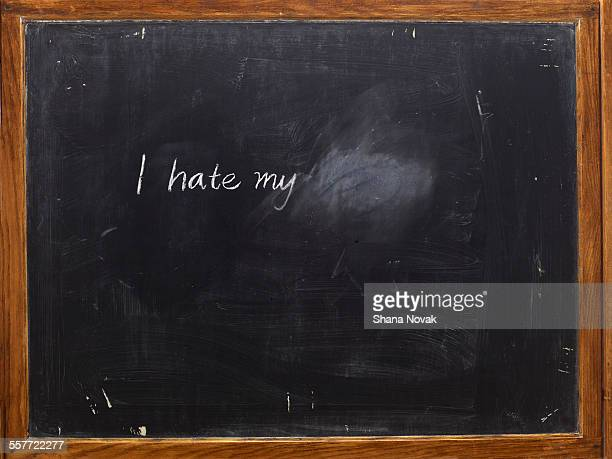 chalkboard with writing - blackboard stock photos and pictures