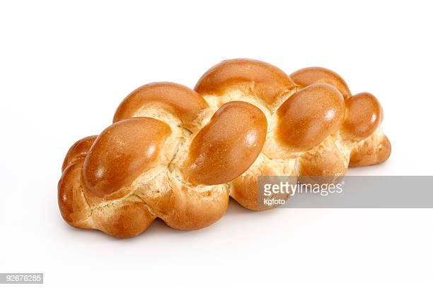 Challah bread isolated on white background with clipping path