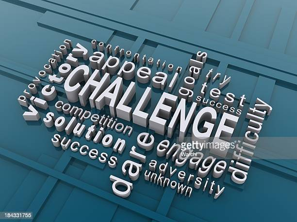 Challenge word cloud in 3D letters