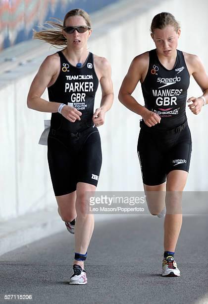 Challenger World London Triathlon Elite Ladies the race was won by Helen Jenkins GBR