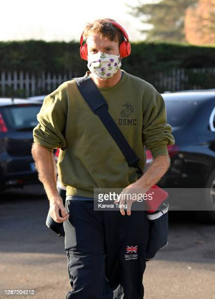 Chalmers from Strictly Come Dancing 2020 seen arriving at a rehearsal studio on November 23, 2020 in London, England.