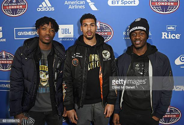 Chalobah Ruben LoftusCheek and guest attend the Denver Nuggets v Indiana Pacers game during NBA Global Games London 2017 at The O2 Arena on January...