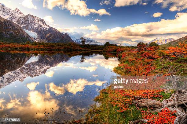 valle de chalten - los glaciares national park stock pictures, royalty-free photos & images